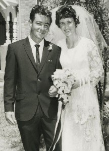 Robin and Lainey Horkings on their wedding day.