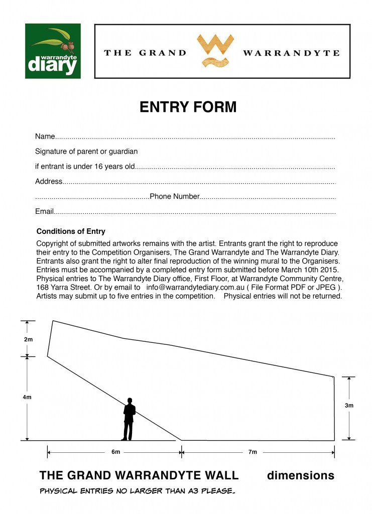Grand Wall Entry Form